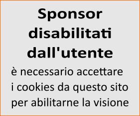 Sponsor disabilitato dalle preferenze utente sui cookies