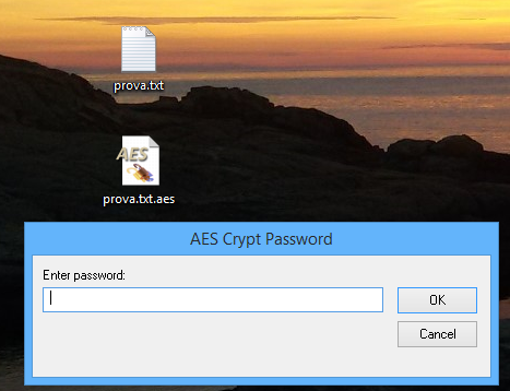 AEScrypt richiesta password