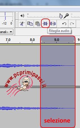 Ritaglio audio Audacity