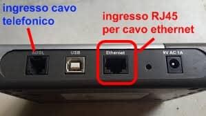 Router ingresso ethernet