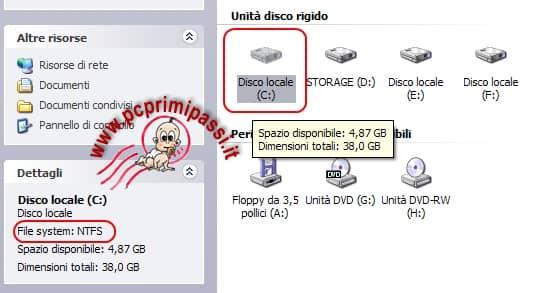 File system risorse del computer