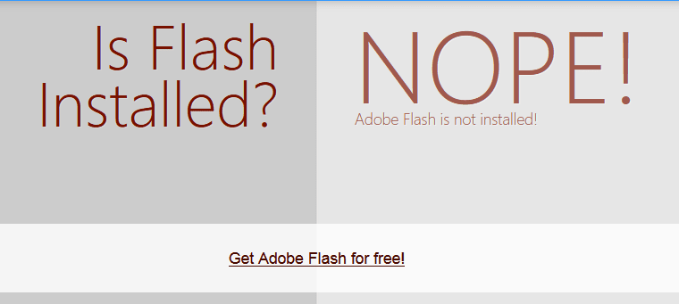 Verifica installazione Flash Player