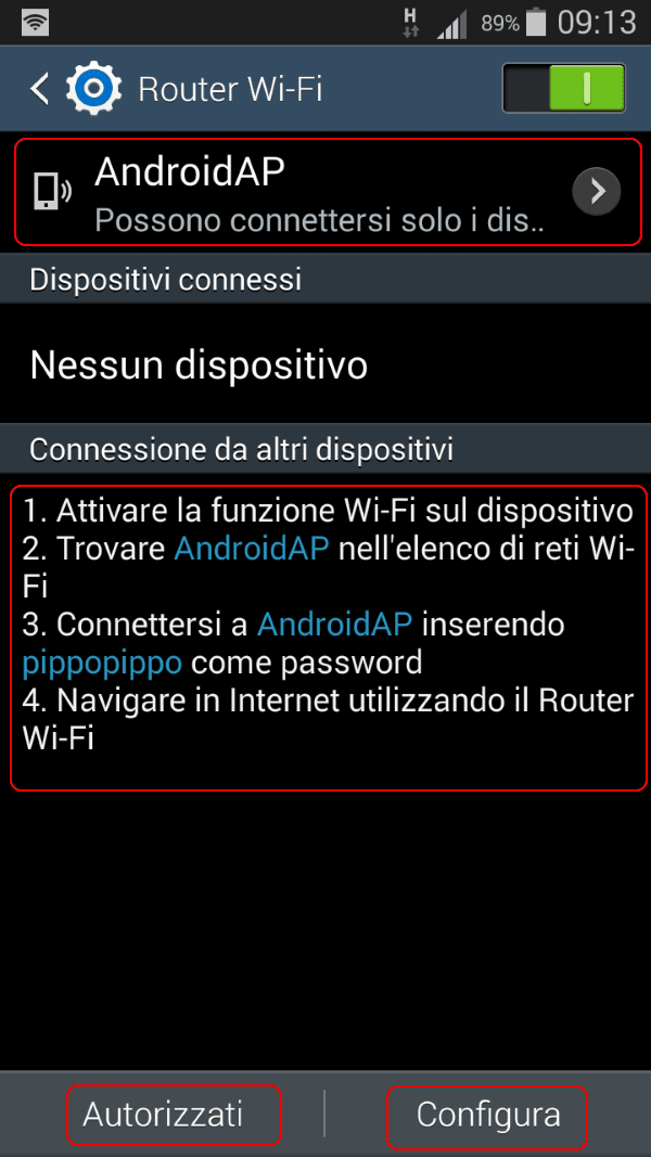 Hotspot Android 4.4.X step 3