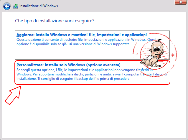 Installazione pulita windows 10 step 4