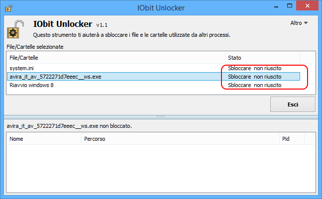 Iobit unlocker portable esito