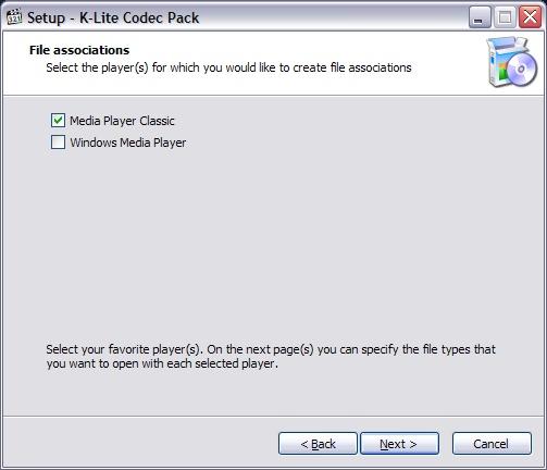 Lettore predefinito Klite codec pack