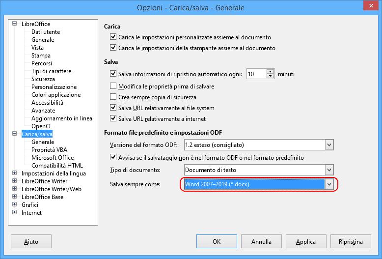 LibreOffice nuove formattazioni