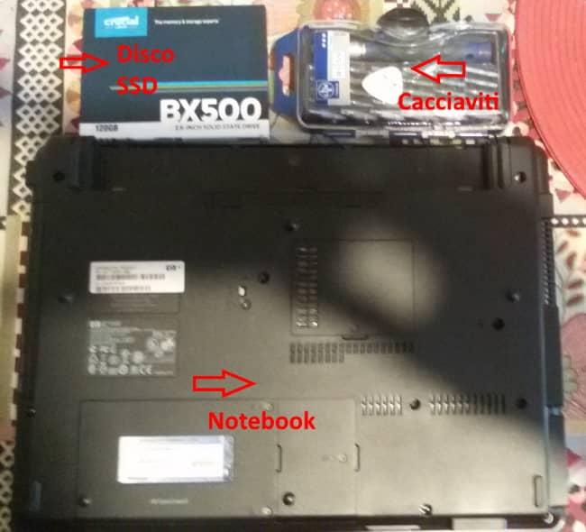 Montaggio SSD occorrente