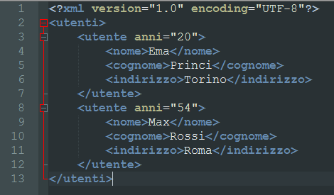 File XML su Notepad++