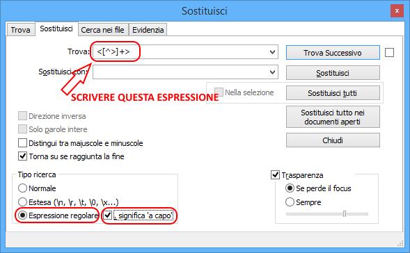 Notepad++ regular expression