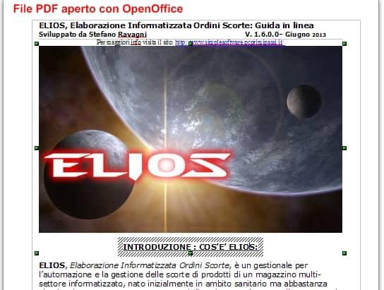 File PDF aperto e modificabile con OpenOffice