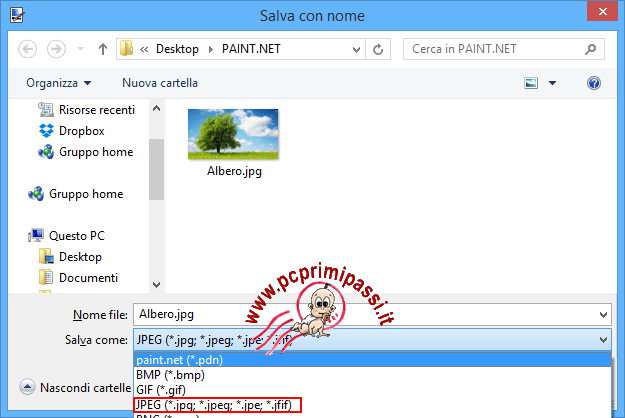 Paint .NET salva con nome