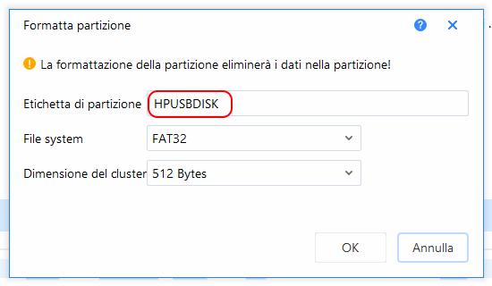 Partition master free formattazione