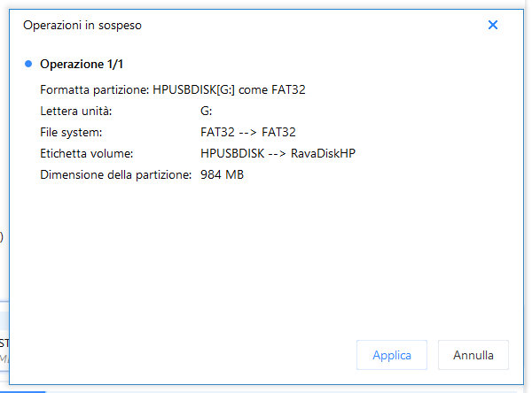 Partition master free box azioni sospese applica