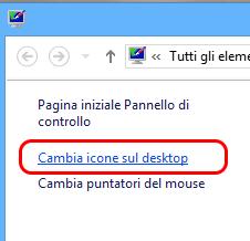 Cambia icone desktop