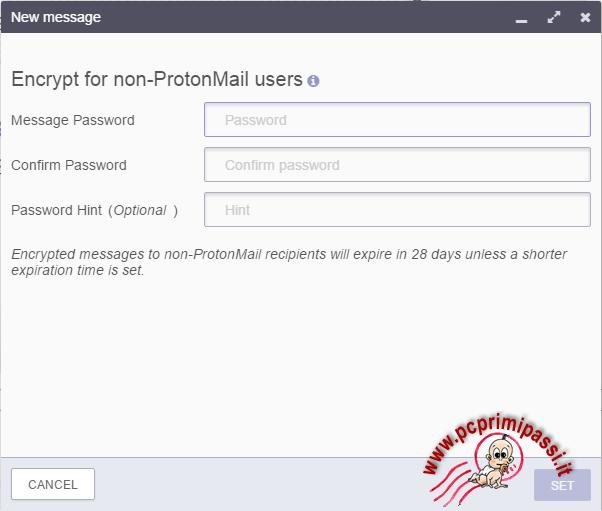 ProtonMail crifratura