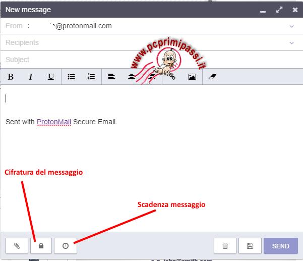 ProtonMail nuovo messaggio