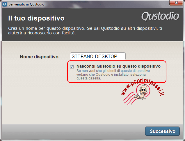 Qustodio nome dispositivo