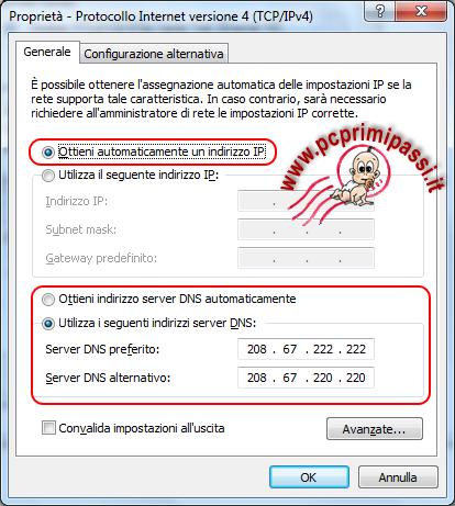 DNS scheda di rete