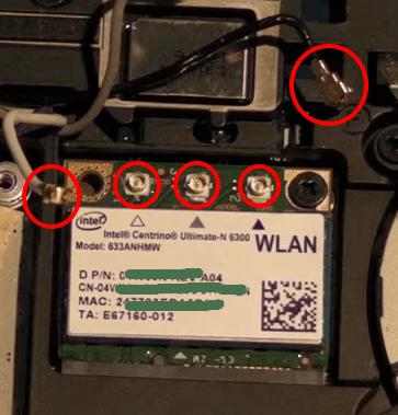 Scheda wifi interna notebook scollegamento cavetti