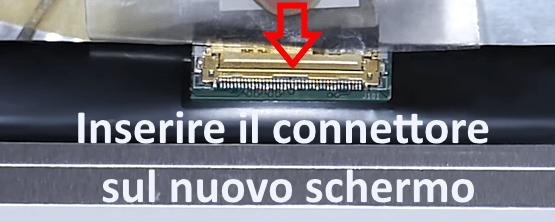 Inserimento cavo connettore flat schermo notebook