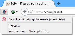 TOR Browser no script