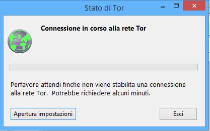 Connessione rete TOR