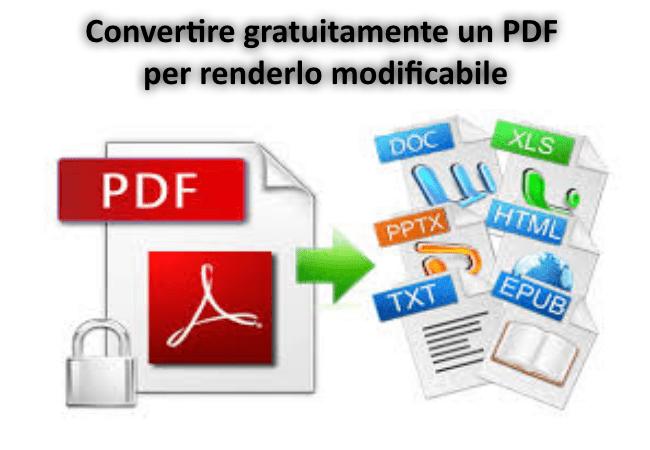 Convertire PDF online gratuitamente