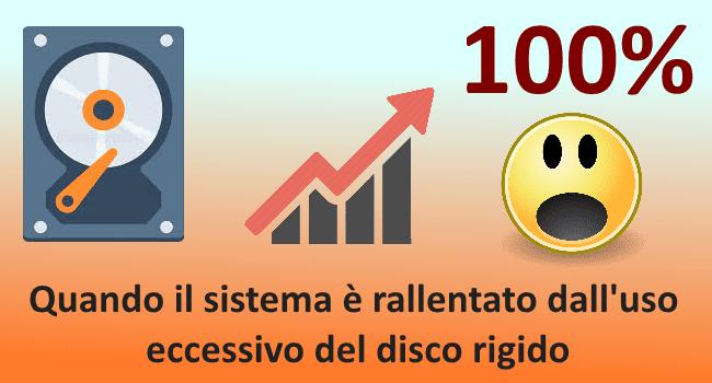 Disco utilizzato al 100%