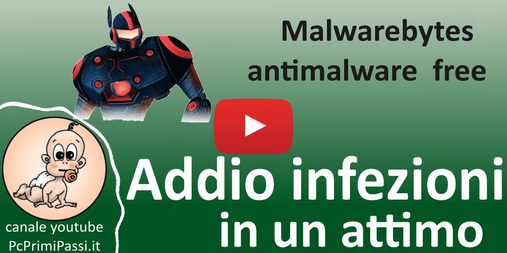 Come eliminare le infezioni del sistema con malwarebytes antimalware free