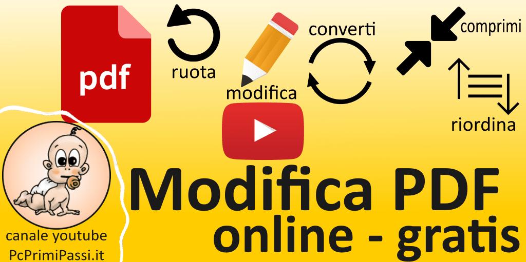 Come modificare un pdf online gratuitamente