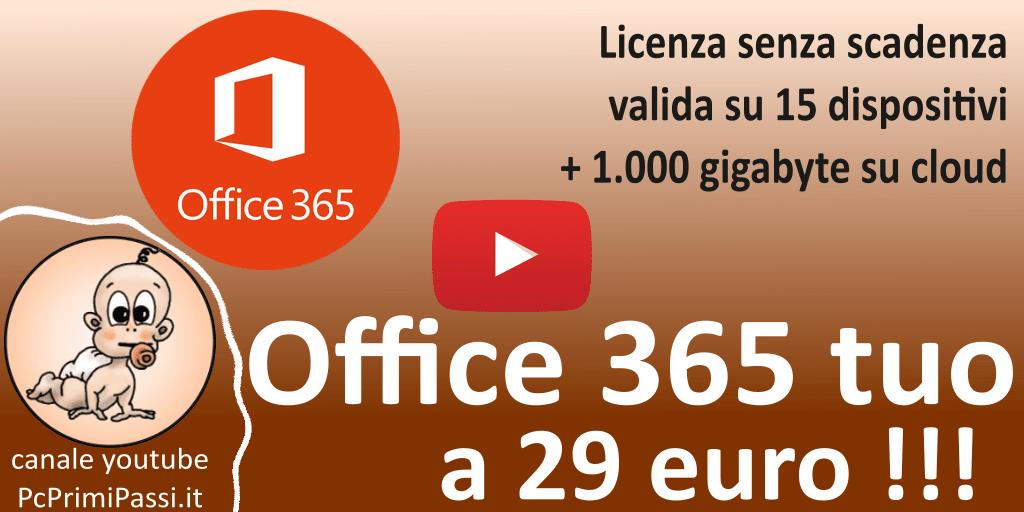 Come ottenere Microsoft Office 365 senza scadenza per 15 dispositivi a 29 euro