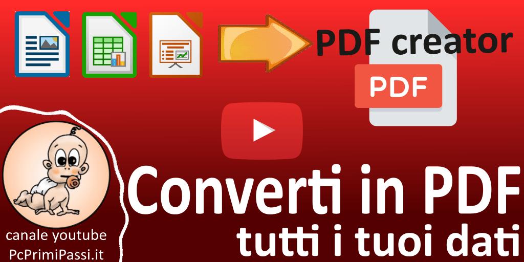 Come convertire qualsiasi contenuto in PDF con PDFCreator