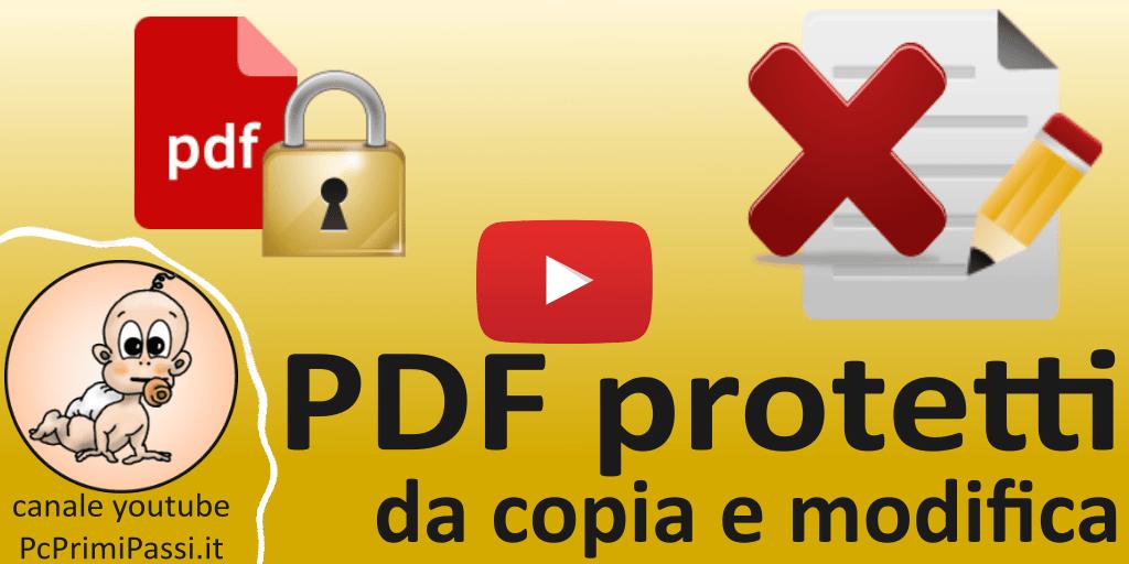 Come proteggere un documento convertito in PDF dalla copia e dalla modifica con LibreOffice