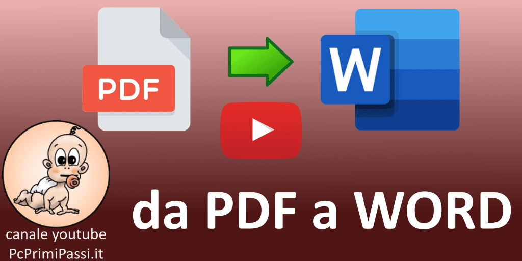 Come convertire un PDF in un documento WORD con Office 365 online senza averlo installato sul PC