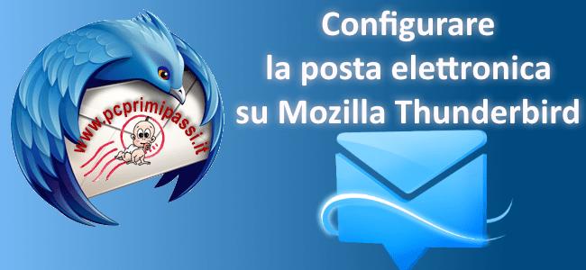 Configurare un account di posta elettronica con Mozilla Thunderbird