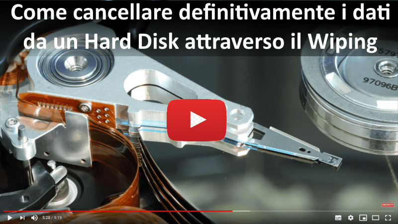 Come cancellare definitivamente i dati da un disco attraverso il wiping