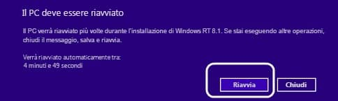 Windows 8.1 update riavvia