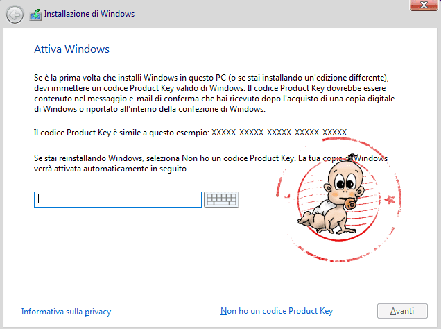 Attivazione licenza Windows 10 step 2